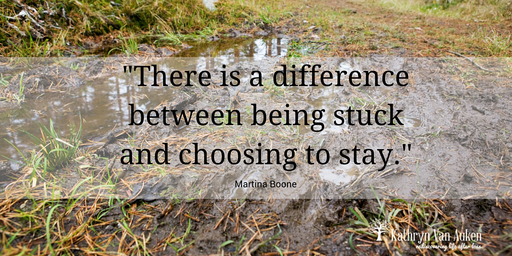 There is a difference between being stuck and choosing to stay