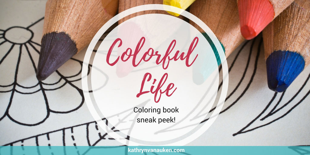 National Coloring Book Day Preview Kathryn Van Auken